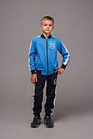 """Спортивный костюм детский для мальчика, """"33"""", 7-11 лет, чёрный с голубым, фото 1"""