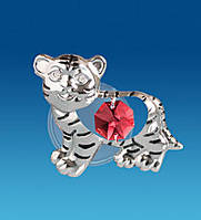 """Фігурка на магніті """"Тигр"""" з кристалами Сваровські, фото 1"""