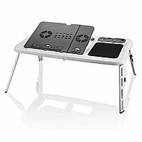 Портативный раскладной столик для ноутбука E-Table, подставка для ноутбука с кулером, 1000320-Other-0