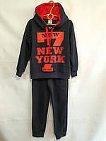 """Спортивный костюм детский для мальчика, """"New York """", 7-11 лет, темно-синий с красным, фото 1"""