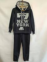 """Спортивный костюм детский для мальчика, """"New York """", 7-11 лет, темно-синий с серым, фото 1"""