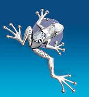 """Фігурка на магніті """"Жаба тропічна"""" з кристалами Сваровські, фото 1"""