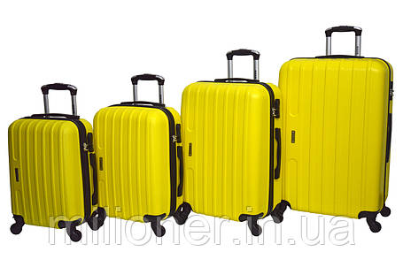 Чемодан Siker Line набор 4 штуки желтый, фото 2