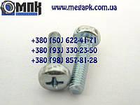 Винт нержавеющий М8х16, винт с закругленной цилиндрической головкой, шлиц крестообразный, винт DIN 7985.