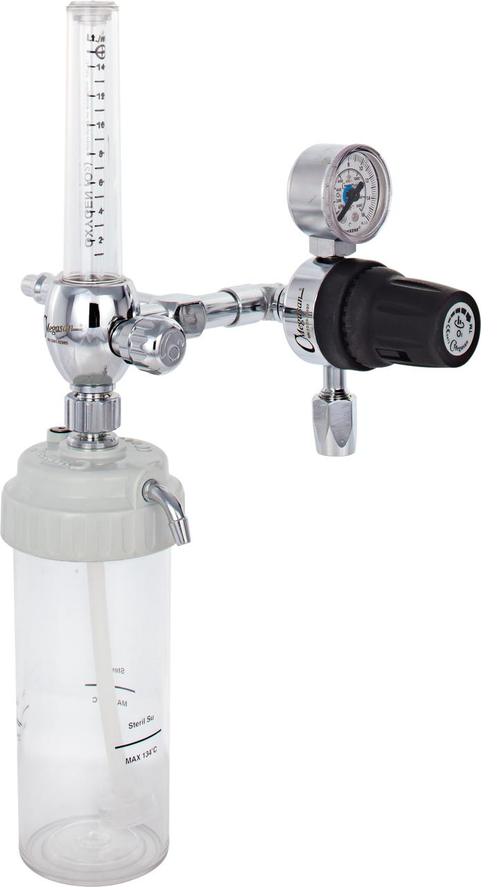 Флоуметр и подача кислорода с регулятором давления