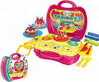 """Набор для детской лепки  пластилин """"Кондитерская"""", формочки, инструменты, в чемодане, 8729"""