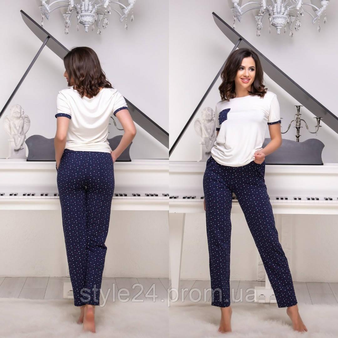 Жіноча   піжама:футболка і штани .Р-ри 42-48