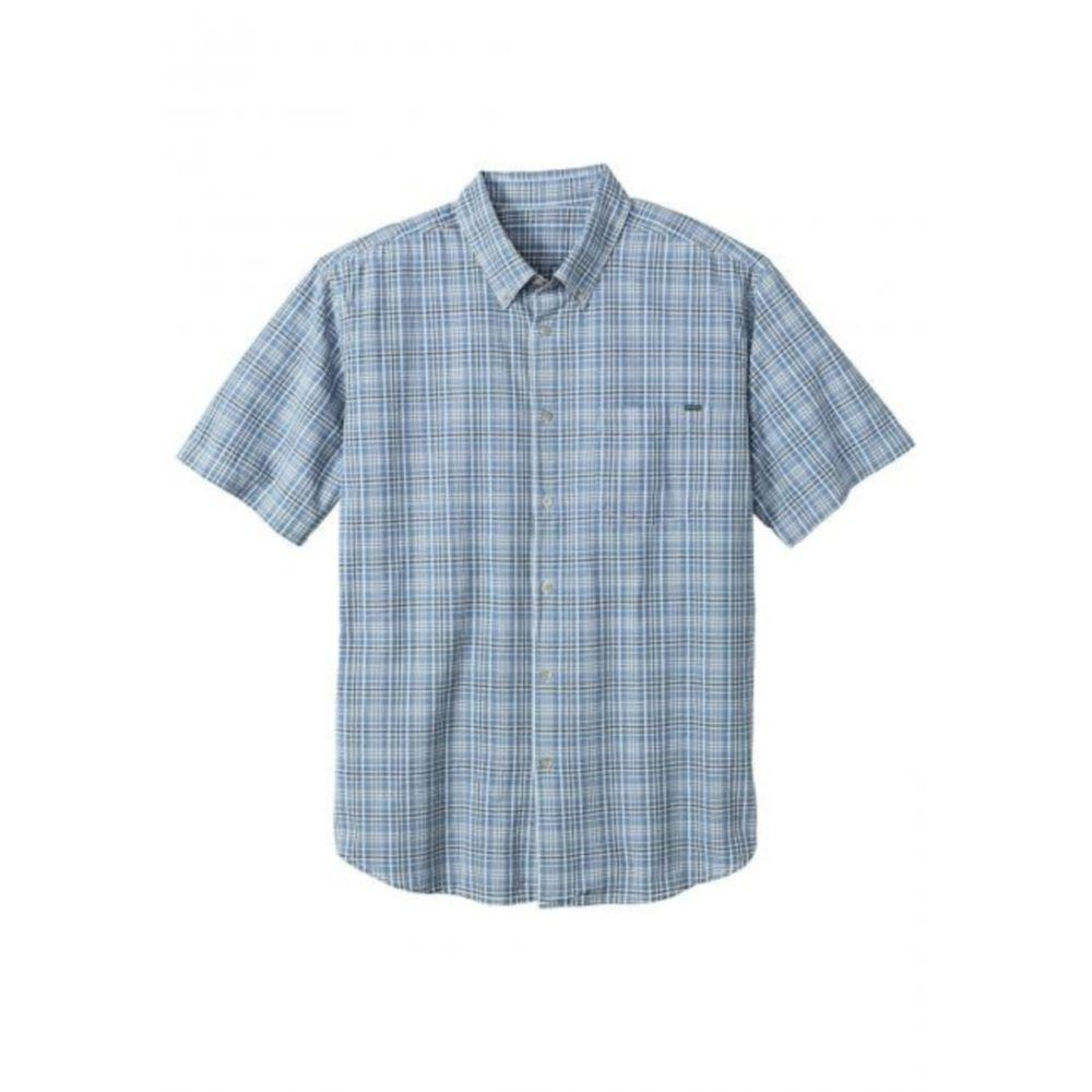 Мужская рубашка Eddie Bauer Mens Classic Short-Sleeve Shirt Lt BLUE (M)