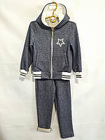 """Спортивний костюм дитячий для дівчинки, """"Зірочка"""", з капюшоном, 3-6 років, темно-синій, фото 1"""