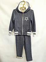 """Спортивный костюм детский для девочки, """"Звездочка"""", с капюшоном, 3-6 лет, темно-синий, фото 1"""
