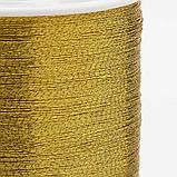 Металлизированная нитка 0,1мм 55м в катушке для вышивания для рукоделия цвет золото, фото 3