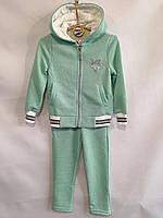 """Спортивний костюм дитячий для дівчинки, """"Зірочка"""", з капюшоном, 3-6 років, м'ятний, фото 1"""