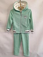 """Спортивный костюм детский для девочки, """"Звездочка"""", с капюшоном, 3-6 лет, мятный, фото 1"""