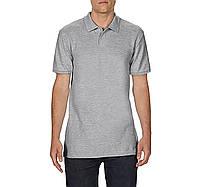 Поло светло-серое рубашка унисекс, SoftStyle, 14 цветов, плотностью180 г/м2, Gildan, Канада 100% хлопок