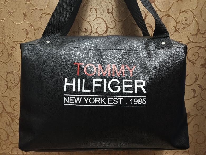 4568b5686e16 Сумка спортивная черная, сумка для фитнеса, сумка на тренировку, сумка  Томми копия