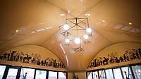 Глянцевый натяжной потолок Марсель 1012 Арочная форма