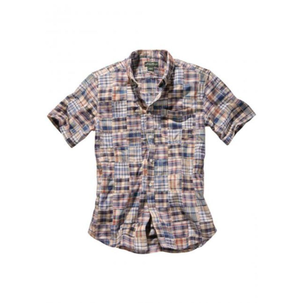 Мужская рубашка Eddie Bauer Mens Patchwork Short Sleeve Shirt MULTI