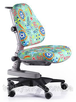 Детское кресло MEALUX Newton ZB (обивка зеленая с мячами)
