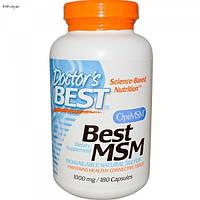 МСМ (метилсульфонилметан) 180 капс 1000 мг от артрита миозита растяжения связок Doctor's Best