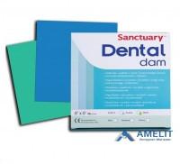 Платки для коффердама Dental Dams (Sanctuary), синие, 36шт./упак.