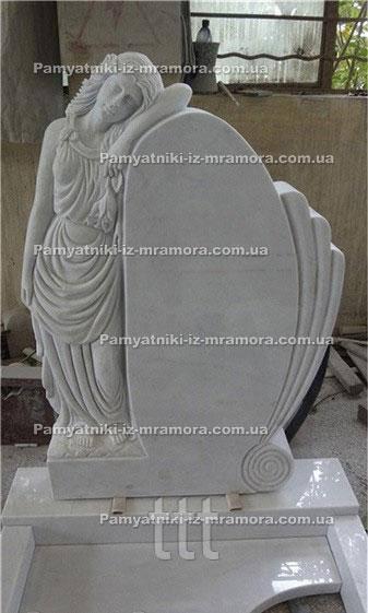 Фигурный Памятник с мраморным ангелом №62