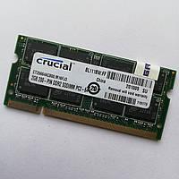 Оперативна пам'ять для ноутбука Crucial SODIMM DDR2 2Gb 800MHz 6400s CL6 (CT25664AC800.M16FJ3) Б/В