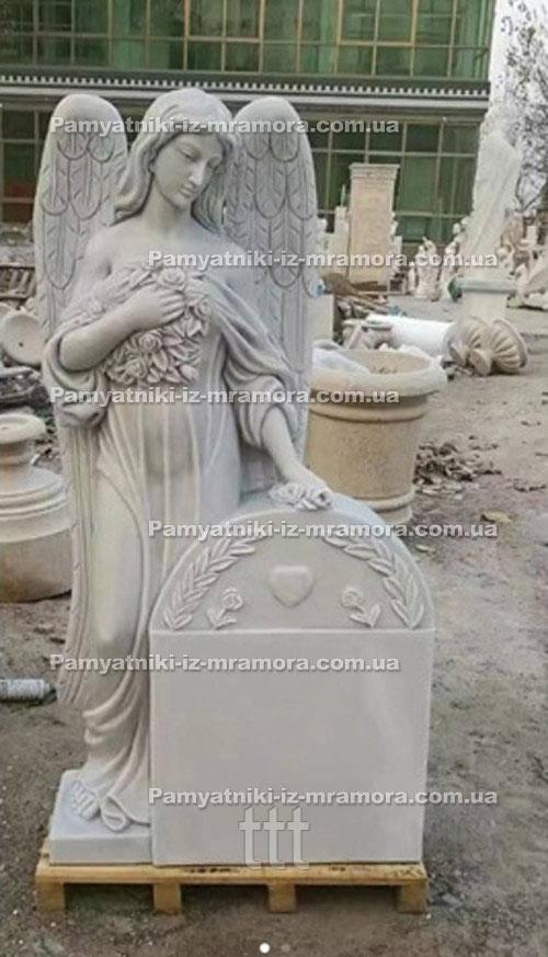 Памятник с мраморным ангелом №68