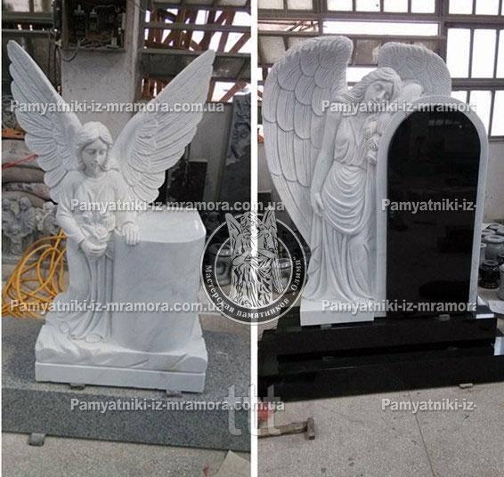 Памятники с ангелами из мрамора 70