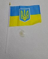 Флаг Украина и герб тризуб на присоске автомобильный