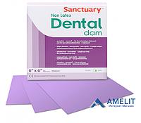 Платки для коффердама безлатексные, пурпурные с ароматом мяты Dental Dams (Sanctuary), 15 шт./уп.