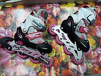 Роликовые коньки раздвижные BT-RS-0003 РАЗМЕР S (30-33) Розовые
