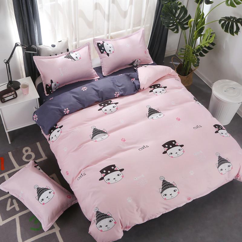 Комплект постельного белья Кот в шляпе (двуспальный-евро) Berni Home