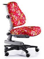 Детское кресло MEALUX Newton RZ (обивка красная с листочками)