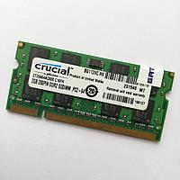 Оперативна пам'ять для ноутбука Crucial SODIMM DDR2 2Gb 800MHz 6400s CL6 (CT25664AC800.C16FH) Б/В