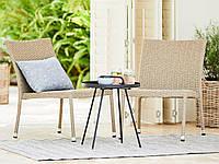 Комплект садовой плетеной мебели (2 стула и круглый столик)
