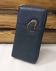 Женский кошелек из искусственной кожи, на молнии, 5 отделов для купюр, для 8 карт, фото 3