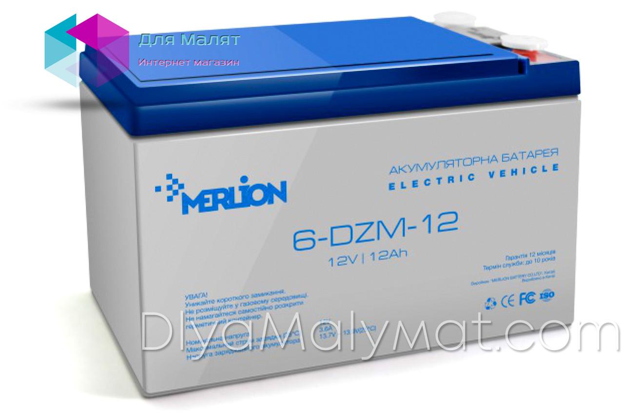 Аккумулятор тяговый Merlion 6DZM12 12V/12Ah для детского квадроцикла