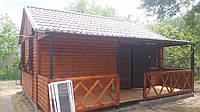 Дачный домик 5х6 м с верандой