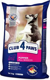 Клуб 4 лапы Премиум сухой корм для щенков всех пород, с высоким содержанием курицы, 14 кг