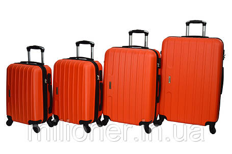 Чемодан Siker Line набор 4 шт. оранжевый, фото 2