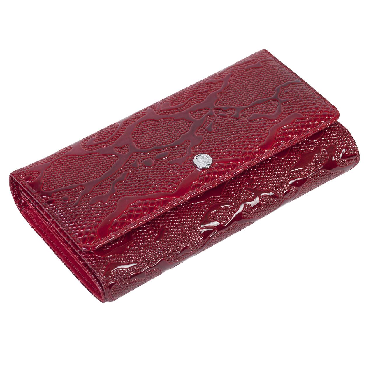 Женский кошелек Karya 1132-019 кожаный красный