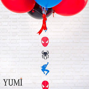 Композиция из гелиевых шаров с человеком пауком, фото 2