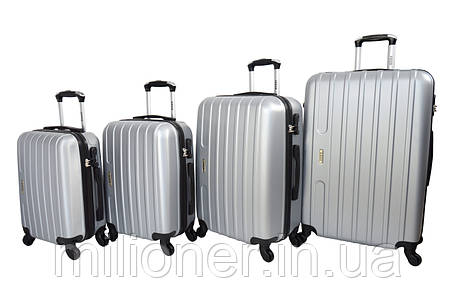 Чемодан Siker Line набор 4 штуки серебряный, фото 2