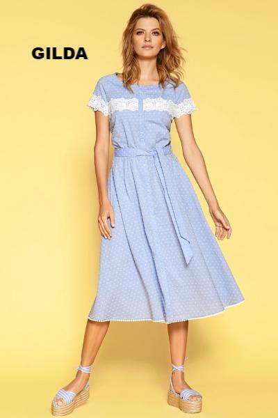 946dea97d9f Летнее платье Gilda голубого цвета от Zaps