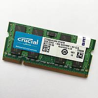 Оперативна пам'ять для ноутбука Crucial SODIMM DDR2 2Gb 800MHz 6400s CL6 Б/В MIX