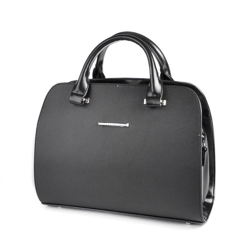 a992975dca0b Сумка саквояж М111-48/33 черная женская овальная каркасная: продажа ...