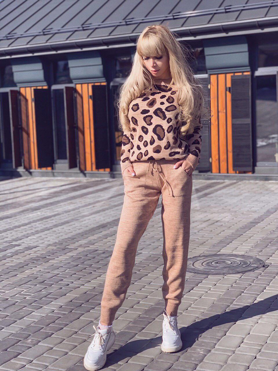 Костюм теплый леопардовый