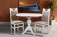 Стол МИКС-Мебель Триумф 1050(+400)*750 (белый, ваниль)