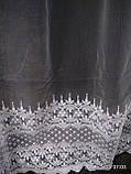 Белая тюль с вышивкой Высота 2.8 м на метраж и опт, фото 3