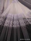 Белая тюль с вышивкой Высота 2.8 м на метраж и опт, фото 4